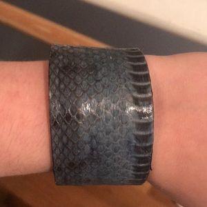 Jewelry - Blue Snakeskin Cuff Adjustable